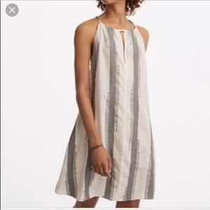 Lou & Grey striped halter swing tent dress XS